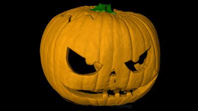 Pumpkin Halloween Jack'O Fly Through